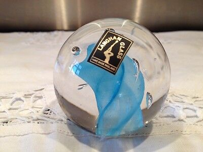 Beautiful Langham Glass Paperweight - Small