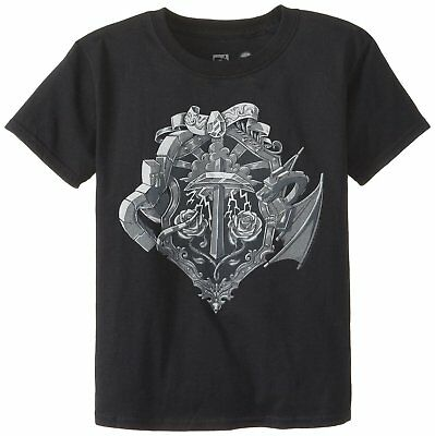 Minecraft Big Boys' Heroes Crest Officially Licensed Authentic Youth T-Shirt