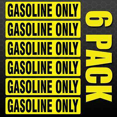 DIESEL FUEL ONLY Sticker **100 Pack ** Truck Vehicle Decal Yellow Gas Tank Label
