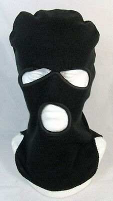 Russian Police Spetsnaz Winter Balaclava Military Face Mask Knitted Black Real