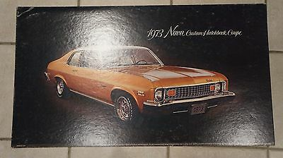 1973 Nova Custom Hatchback Coupe Dealer card advertising chevrolet chevy lobby