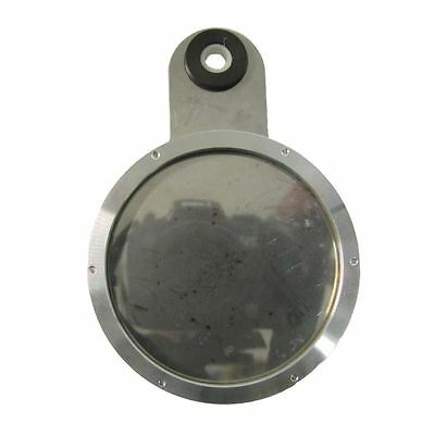 Tax Disc Holder Round 6 Screws, Clear Glass, Chrome Backing