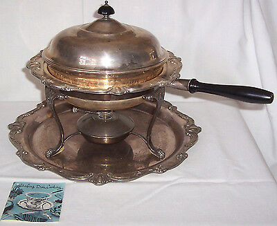 WILCOX IS International Silver Co. Rochelle  Chafing Dish Cookery Set - 6 tlg.