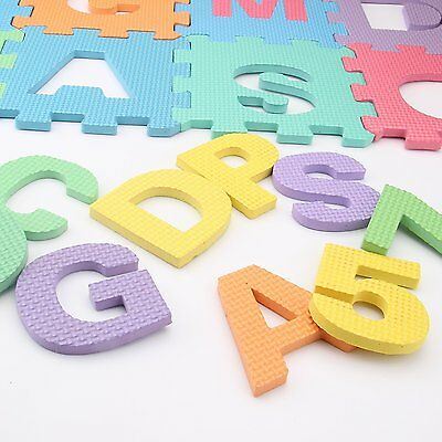Children Kids Soft Eva Foam Matts Alphabet Numbers Interlocking Activity Play UK