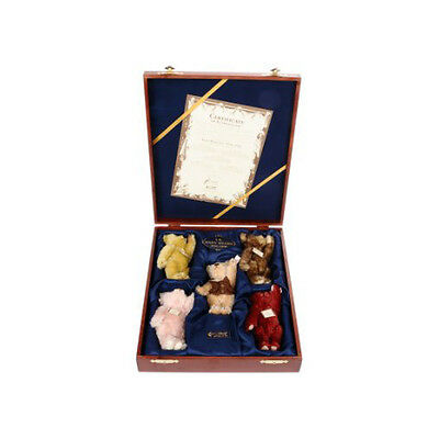 Steiff British Collectors UK Baby Bear Set, 1994-1998 Retired and very Collectab