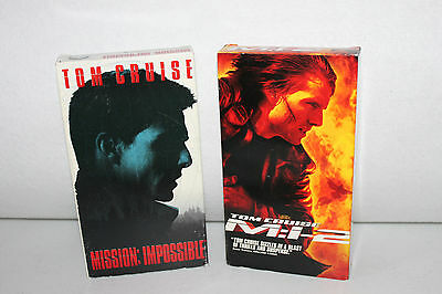 Mission Impossible & M:1-2 starring Tom Cruise (VHS)