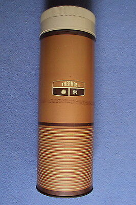 Vintage 1967 King Seeley Thermos Quart Size  #6463 Wide Mouth Vacuum Brown
