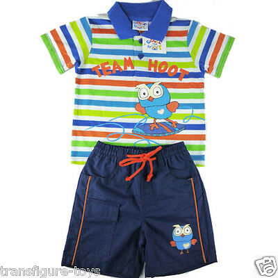 free shipping- Boys girls Giggle and Hoot summer stripeshirt pants outfit sz 1-5