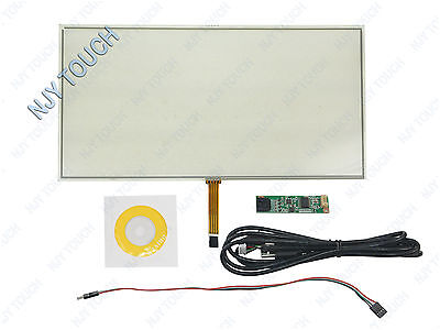 "15.6inch 4Wire Resistive Touch Screen Panel USB for 15.6"" Laptop 16:9 0.5mm Film"