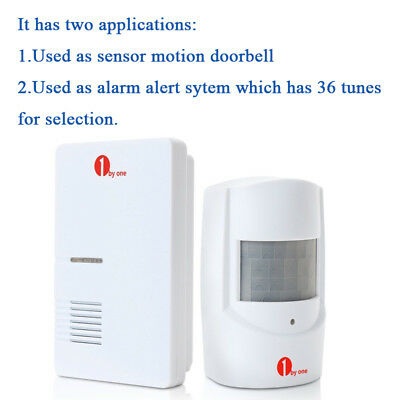 100m Wireless Motion Sensor Car Detector Door Bell Gate Entry Chime