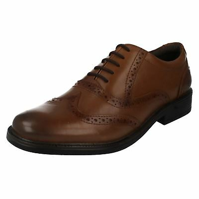 Hush Puppies Rockford Brogue Tan Leather Shoes Sizes 6 - 11 (R11B)