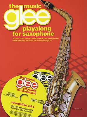 RRP 10.95 Glee The Music Playalong for Alto Saxophone Sheet Music Book/2CDs