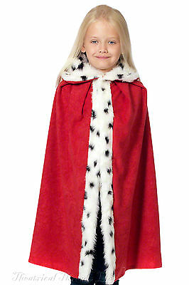 Kids Nativity Cloak Cape Christmas Costume Deluxe Childs King Queen Wise Man