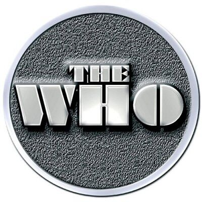 The Who Stencil Band Logo Metal Pin Badge Brooch Album Band Official Product