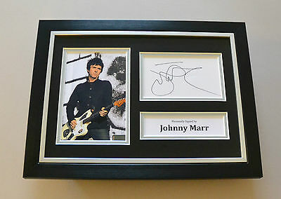 Johnny Marr Signed A4 Photo Framed The Smiths Autograph Display Memorabilia +COA