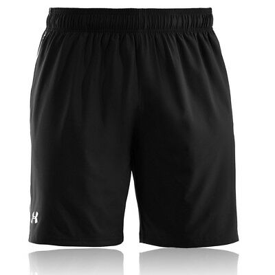 "Under Armour Mens HeatGear Mirage 8"" Inch Black Running Bottoms Pants Shorts"