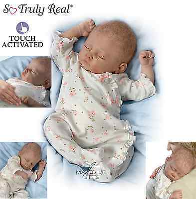 """Ashton Drake """"Sophia"""" Breathing Poseable Weighted Baby Doll Next Day Delivery!"""