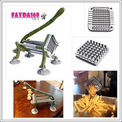 Foodservice French Fry Cutter Commercial Grade Maker Machine Stainless Steel NEW