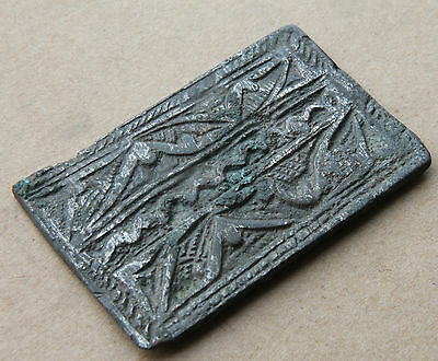 Scandinavian Period Silvered  Applique,  Viking Norse Plate 1000 Ad Vf+++