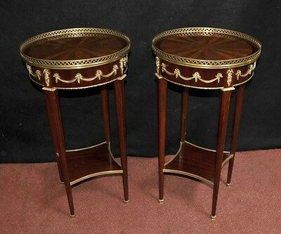 Pair Louis XV Round Side Tables French Interiors Furniture