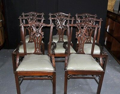 Set 8 Chippendale Dining Chairs Mahogany Diners • £2,650.00