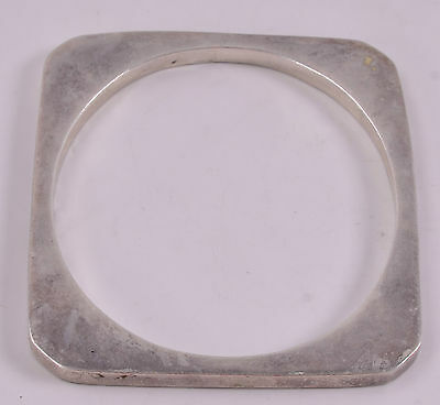 Los Ballesteros Sterling Silver Square Bangle Bracelet - Taxco, Mexico