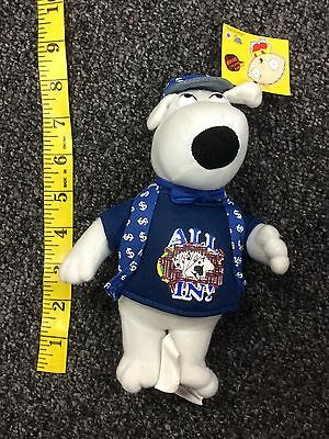 Family Guy Brian Griffin Poker Blue All In Shirt Plush Toy NWT 7 Inches