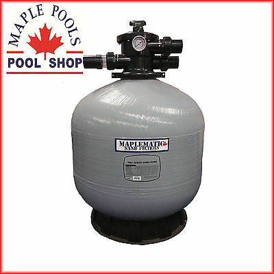New Maplematic 25Inch Fibreglass Sand Filter With 40Mm Valve