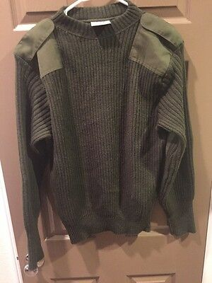 US Marine Corps green service sweater wool size 40 Pull Over