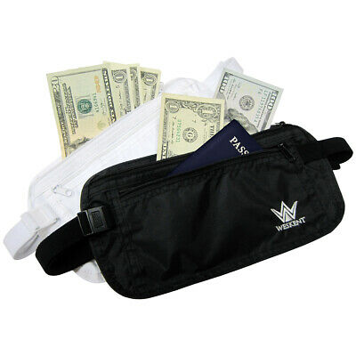 WESKENT Safe Money Pouch Belt security discreet wallet passport travel waist bag
