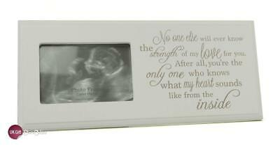 Baby Scan Photo Frame Plaque Gift With Sentimental Verse BB0050