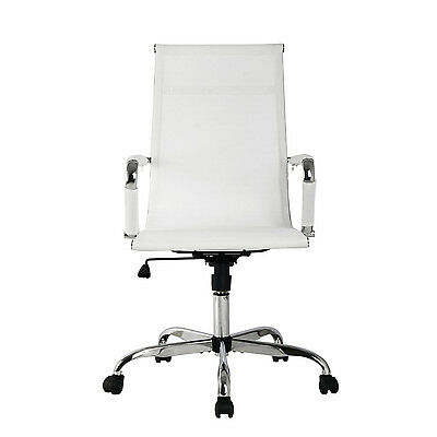 Office Chair High Back Mesh Swivel Executive Computer Desk Task Seat White New