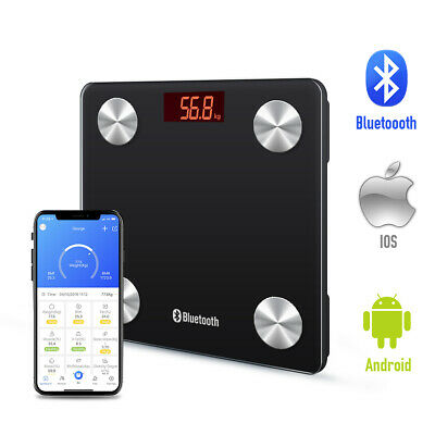Wireless Bluetooth Smart Scale Weight Tracker Fitness Monitor App As Fitbit Aria