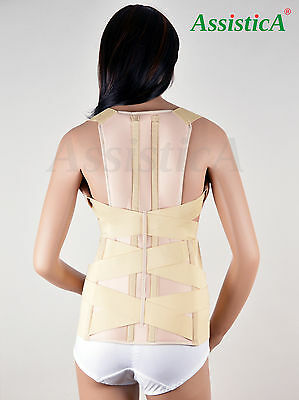 Assistica® Medical Scoliosis Lumbar Support Brace, Firm Back Posture Corrector