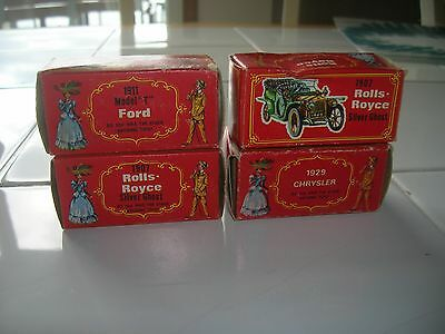 Vintage National Toy Cars W/boxes 1907 Rolls Royce 29 Chrysler 1911 Ford T