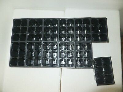 25 Sheets (1206) New Seedling Black Tray Inserts - fills 25 flats seed starting