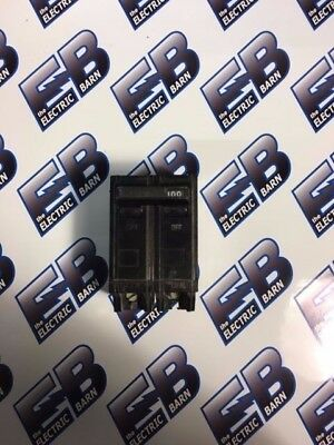 GE  THQL21100, 2 POLE 100 AMP 240 VOLT PLUG IN Circuit Breaker- WARRANTY