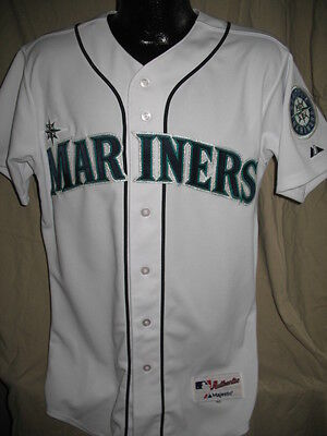 wholesale dealer 382c9 52517 MLB SEATTLE MARINERS Authentic White Jersey Shirt Majestic Nwt Mens Chest  Size