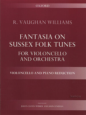 Fantasia on Sussex Folk Tunes for Cello and Piano Reduction Sheet Music Book