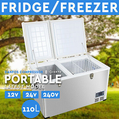 NEW! 100L Portable Freezer Fridge 12V/24V/240V  Camping Car Boat Caravan  Cooler