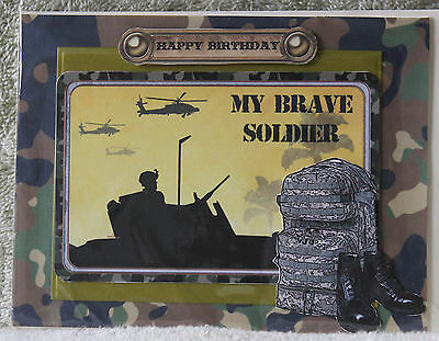 Handmade Beautiful Soldier In A Tank Silhouette My Brave Soldier