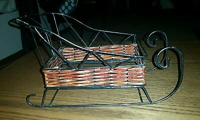 """10""""~ Wicker & Metal Runner Sleigh ~Ready to Decorate"""