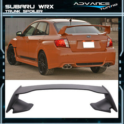 For 08-14 Subaru Impreza WRX 08-11 STI 4Dr Sedan Only ST Style ABS Trunk Spoiler
