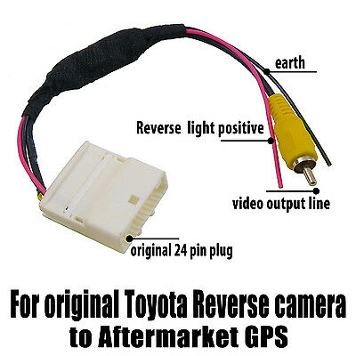 Video Harness Cable for original Toyota Reverse camera to Aftermarket GPS RCA OZ