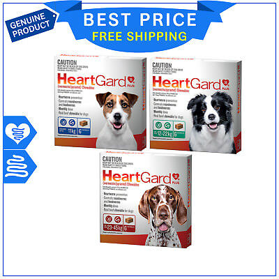 Heartgard Plus Heartworm Treatment for Dogs 6 Chews All Sizes by Merial AU Stock