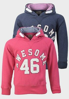 Girl's Life & Legend Rose Pink or Blue Washed Ink AWESOME 46 Cotton Hoodie Top