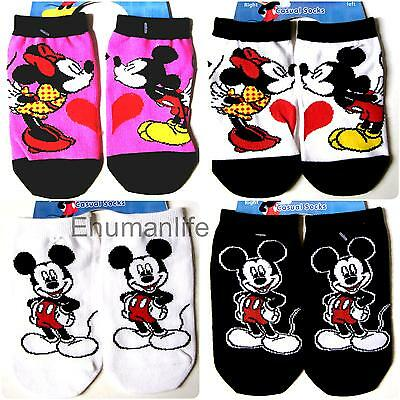 1 pair  Disney Kids Boy Girl Mouse Mickey Minnie Ankle Stretch Sock Various Size