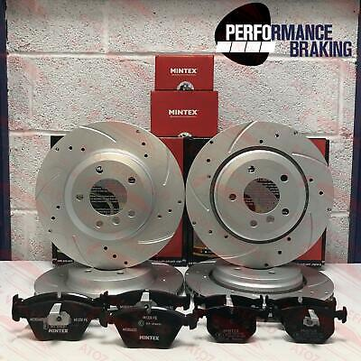 FOR BMW E46 330ci 330i 330d FRONT REAR DRILLED GROOVED BRAKE DISCS MINTEX PADS