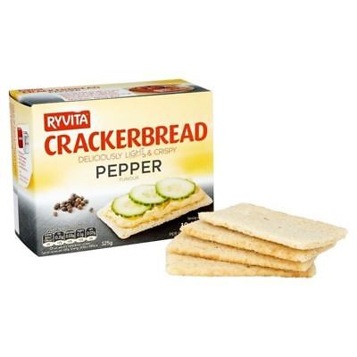 Ryvita Black Pepper Crackerbread 125g