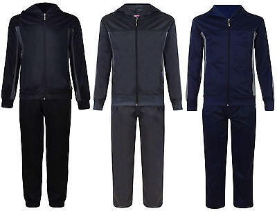 Kids Tracksuit Boys Girls Hooded Zip Top & Track Bottoms 4-12 Years Bnwt